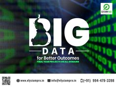 Execute Big Data Domain for final year Projects... Ideas & Support by ElysiumPro.... To view Projects List visit our site #elysiumpro #projects #training #center #big #data #ideas