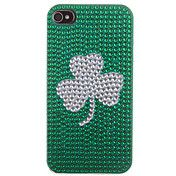 Clover Pattern Zircon Sticker Back Case for i... – USD $ 5.99