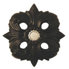 Waterwood Hardware Decorative Avalon Doorbell- Black from Cabinet Knobs and More