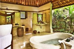 ... private pools and spacious gardens, boasting cosy bathroom areas replete with wash basin, wardrobe, separate toilet, shower, and even a sunken bathtub.