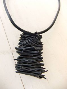 Inner tube necklace