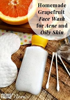 Do you or someone you know suffer from acne? Then use a daily cleanser that will not only clean your skin, but treat your acne as well. Forget those expensive, chemical loaded store bought facial cleansers. This easy natural homemade face wash for acne and oily skin contains grapefruit essential oil which will assist in exfoliating your skin and increasing the ph of your skin thus leaving your skin feeling refreshed and cleaned.