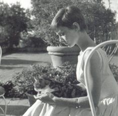 Audrey Hepburn possibly at Villa Bethiana. Bürgenstock, Switzerland, circa 1954/1955.