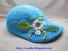 TRICO y CROCHET-madona-mía: Gorro ( boné) hecho con Crochet Irlandés