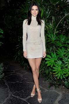 Who: Kendall Jenner  What: A Suede Mini Skirt  Why:  It's a monochrome moment executed perfectly—with a sparkling turtleneck paired with a suede, low-slung mini skirt. Get the look now: Emilio Pucci skirt, $2,400, stylebop.com   - HarpersBAZAAR.com