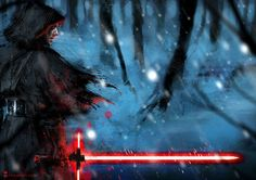 Kylo Ren and his Lightsaber Fan Art for Star Wars Episode VII: The Force Awakens
