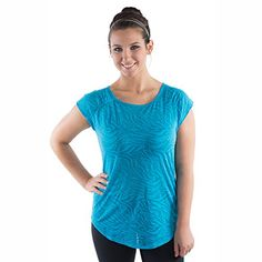 733c04af55f Amazon.com  Women s Yoga Tops Open Back Tee - also in Plus Sizes - seen on  The Biggest Loser (XS