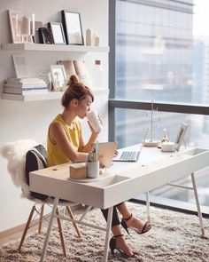 trendy home office layout design craft rooms Home Office Layouts, Home Office Organization, Home Office Decor, Home Decor, Organizing, Cool Office Space, Small Office, Office Setup, Office Ideas
