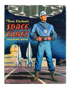 Tom Corbett Space Cadet, coloring book, vintage 1952