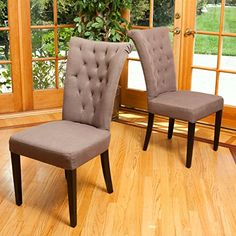 Juliette Mocha Fabric Dining Chairs Set of 2 >>> Visit the image link more details.-It is an affiliate link to Amazon. #DiningSets