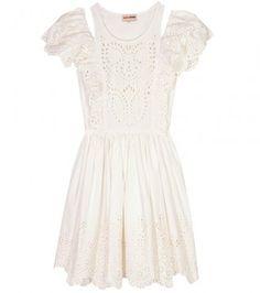 ShopStyle: Chloë Sevigny for Opening Ceremony COTTON EYELET DRESS