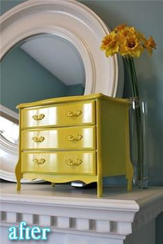 refinish old jewelry box for livingroom decor??