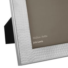 "Buy John Lewis Hammered Photo Frame, Metal, 8 x 10"" (20 x 25cm) Online at johnlewis.com"