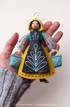 Maid a-Milking PDF pattern for a hand sewn wool felt ornament | Etsy