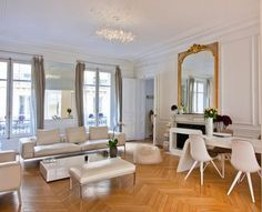 Paris in White :: an apartment celebrating old & new. » glamour drops