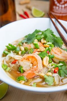 Pad Thai soup from Closet Cooking