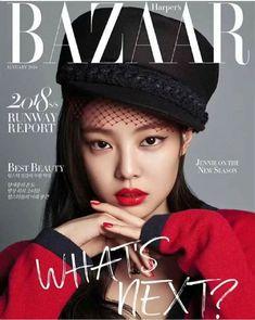 JENNIE from Blackpink for Harper's Bazaar Magazine, January 2018 Blackpink Fashion, Fashion Cover, Fashion Models, Seoul Fashion, Fashion Studio, Womens Fashion, Blackpink Jennie, Revista Bazaar, Vanity Fair