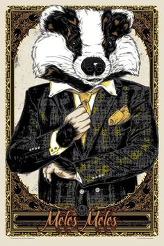 """Rhys Cooper """"Meles Meles"""" x Screenprint Edition of 50 View all the prints from this show here, and all the original works here. Wes Anderson Poster, Wes Anderson Movies, Rhys Cooper, Mr Toad, Spoke Art, Fantastic Mr Fox, Honey Badger, Pop Culture Art, Punk Art"""