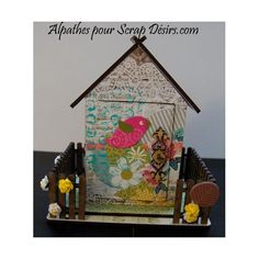 mini_maison_avec_jardin Creations, Frame, Scrapbooking, Mini, Home Decor, Decoration Home, Frames, A Frame, Scrapbook