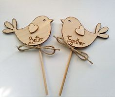 Better Together Rustic Wedding Cake Topper Bird by Melysweddings, £8.50