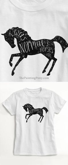 Funny Horse T-shirt for the equestrian horse owner who might have one too many horses!