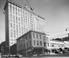 1956: Healey Building (from the intersection of Walton Street and Broad Street)