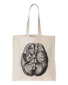 Anatomy Human Brain Canvas Tote Bag par SamsaraPrints sur Etsy, $15.00