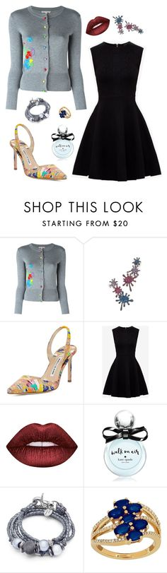 """Untitled #472"" by maylamartha ❤ liked on Polyvore featuring Olympia Le-Tan, Joanna Laura Constantine, Manolo Blahnik, Ted Baker, Lime Crime, Kate Spade, Lizzy James and Lord & Taylor"