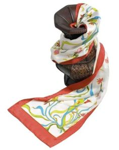 Women's Designer Silk Scarf Shawl - Colorful Vine - Oblong Silk Scarves Rectangle Long Scarf Mothers day gifts presents gift ideas her women wife mom mother daughter son birthday gifts her wife presents gift ideas women girlfriend something special me mom fashion dressy scarf flower floral scarves TexereSilk. $39.00
