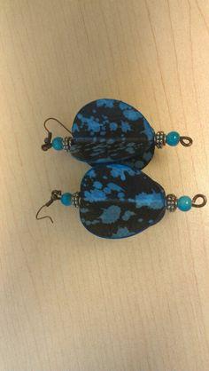 Paper bead earrings $10