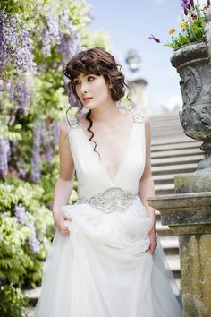 Springtime Bridal Shoot from Judy Pak, Matthew Ree, and Loli Events. Wedding Gown by Jenny Packham. See so much more on SMP -  http://www.StyleMePretty.com/2014/02/21/springtime-bridal-shoot-wiup/