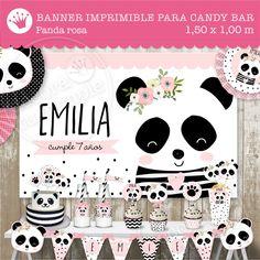 Panda Themed Party, Panda Birthday Party, Panda Party, Baby 1st Birthday, Birthday Parties, Happy Birthday, Panda Bear Cake, Panda Baby Showers, Ideas Para Fiestas