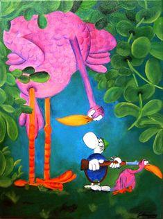 Mordillo Book Drawing, Humor Grafico, Hayao Miyazaki, Painted Rocks, Manga Anime, Folk Art, The Creator, Birds, Animation