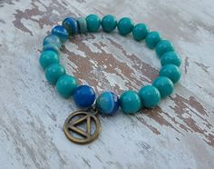 Hey, I found this really awesome Etsy listing at https://www.etsy.com/listing/270542927/alcoholics-anonymous-blue-bracelet-boho