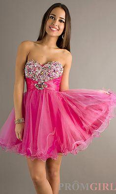 Short Strapless Sweetheart Alyce Dress 4316 at PromGirl.com