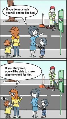 Look at this difference. Which parent would you want to be? How would you like to influence our youth? Think wisely, my friend. You are the ones who choose our future generation. After all, you helped raise it.