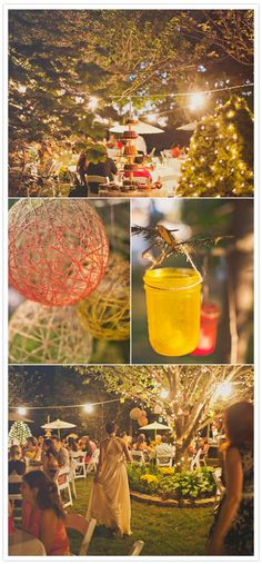 summer backyard wedding
