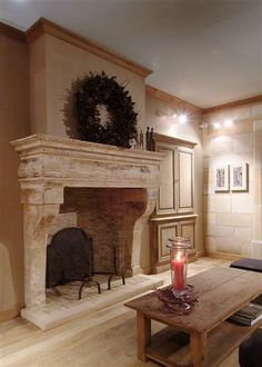 fire place. Décor de Provence: The Perfect Team!