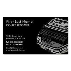 Gray black court reporter custom business cards #businesscards #business #customcards #stenographer #courtreporter  ArtisticAttitude.net
