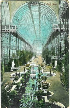 Postcard: Londen Crystal Palace int South nave 1911_Elm Works 683