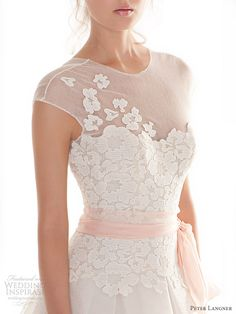 peter langner wedding dresses 2013 waking up pink detail