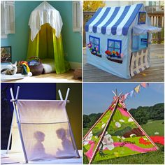#25 DIY:: Hideouts: Forts, Tents, Teepees and Playhouse Tutorials ! These Are Easy Tons of Fun Projects !