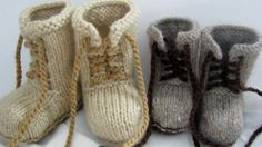 PDF Pattern for Knitted combat boot booties little by MargoMadeit