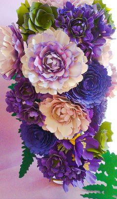 Majestic Cascading Bouquet Couture Paper by MaisonGregoria