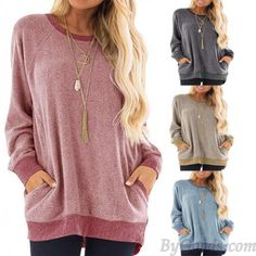 Cheap Casual Large Loose Long Sleeve Round Neck Pullover Sweatshirt T-shirt Tops Women Coat For Big Sale!Casual Large Loose Long Sleeve Round Neck Pullover Sweatshirt T-shirt Tops Women Coat Sweat Shirt, Tunic Shirt, Shirt Blouses, Tunic Tops, Sweater Cardigan, Long Sleeve Tunic, Long Sleeve Tops, Winter T Shirts, Long Blouse