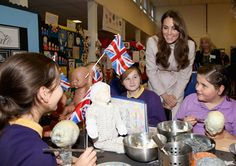 Kate visiting a school in Cambridge