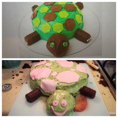 O podrías intentar preparar una bonita torta en forma de tortuga y podría resultar algo muuuuy aterrador.   21 Imágenes que demuestran por qué nunca deberías intentar nada