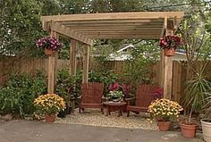 Build a Pergola in Your Backyard with One of These 15 Free Plans: Free Standing Pergola Plan by Ron Hazelton