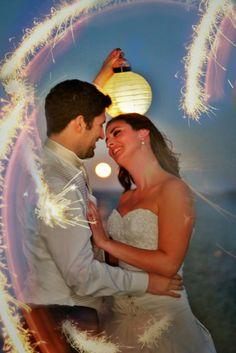 fun with sparklers rotorua wedding photography