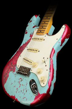 Fender Stratocaster. Years and years of use made this.